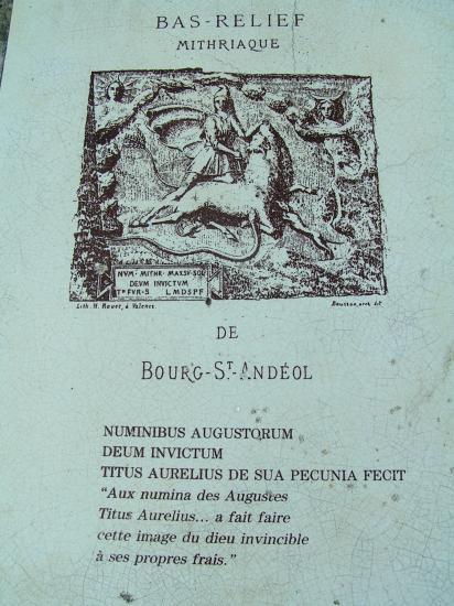 Dieu Mithra au Vallon de Tourne
